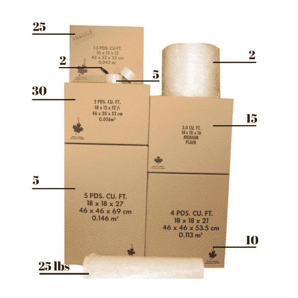 3 Bedroom Packing Kit
